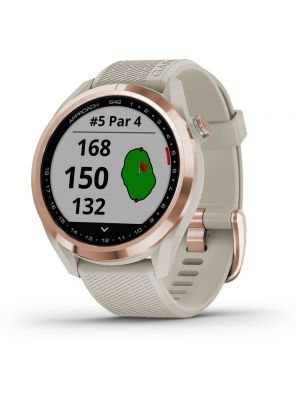 Garmin Approach S42 GPS Golf Watch - Rose Golf - Light Sand Band