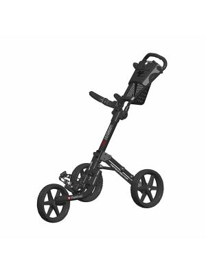 FastFold Mission 5.0 3 Wheel Golf Trolley - Charcoal/Black