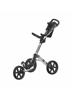 FastFold Mission 5.0 3 Wheel Golf Trolley - Silver/Black