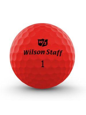 Wilson Staff DX2 Optix Golf Balls - Red (3 Ball Pack)