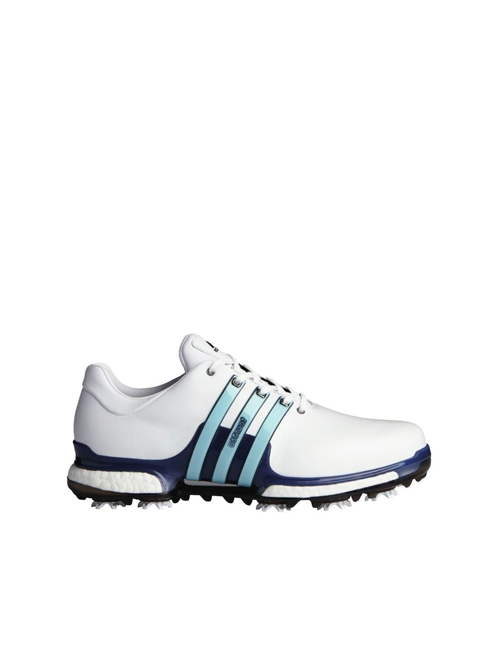 La Iglesia Vegetación Crónico  adidas Tour360 Boost 2.0 Golf Shoes - White/Mystery Ink/Icy Blue