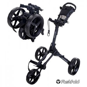 Fastfold Square Golf Trolley - Charcoal/Black