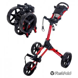 Fastfold Square Golf Trolley - Red/Black