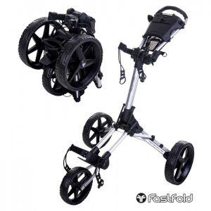 Fastfold Square Golf Trolley - Silver/Black