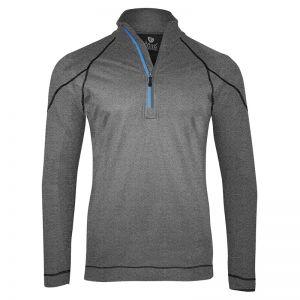 Island Green Essentials Performance Top Layer 1/4 Zip Jacket - Grey Marl/Black