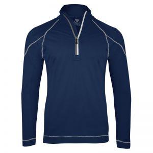 Island Green Essentials Performance Top Layer 1/4 Zip Jacket - Navy/Silver Grey