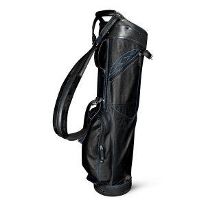 Sun Mountain 2019 Leather Sunday Bag - Black/Cobalt