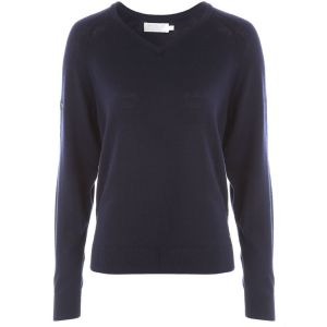 ProQuip AMY Ladies Merino V Neck Sweater - Navy @Aslan Golf and Sports