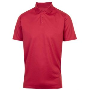 ProQuip Polyester Polo Shirt - Red @Aslan Golf and Sports