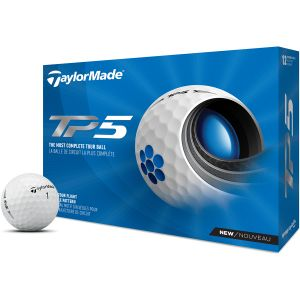 Taylormade Tp5 Golf Ball -White Dozen Box @Aslan Golf