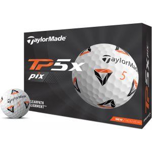 Taylormade Tp5x Pix 2.0 Golf Balls - White/Dozen @Aslan Golf
