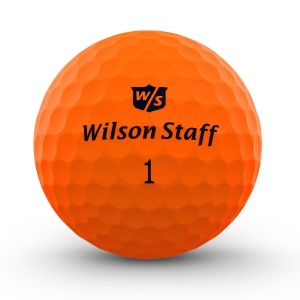 Wilson Staff DX2 Optix Golf Balls - Orange (3 Ball Pack)